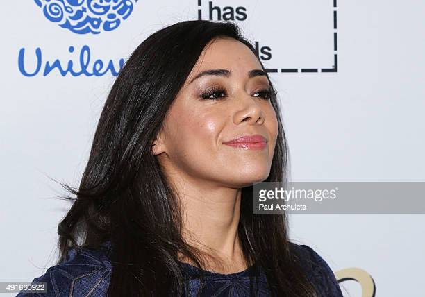 Actress Aimee Garcia attends Latina Magazine's Hot List party at The London West Hollywood on October 6 2015 in West Hollywood California