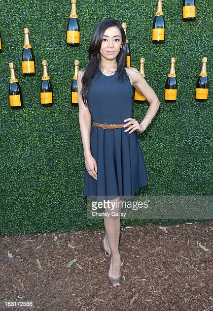 Actress Aimee Garcia attends The FourthAnnual Veuve Clicquot Polo Classic Los Angeles at Will Rogers State Historic Park on October 5 2013 in Pacific...