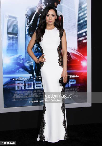 Actress Aimee Garcia attends the Los Angeles premiere of 'Robocop' on February 10 2014 in Hollywood California