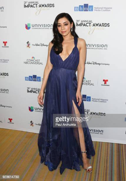 Actress Aimee Garcia attends the National Hispanic Media Coalition's 21st annual Impact Awards at the Beverly Wilshire Four Seasons Hotel on February...
