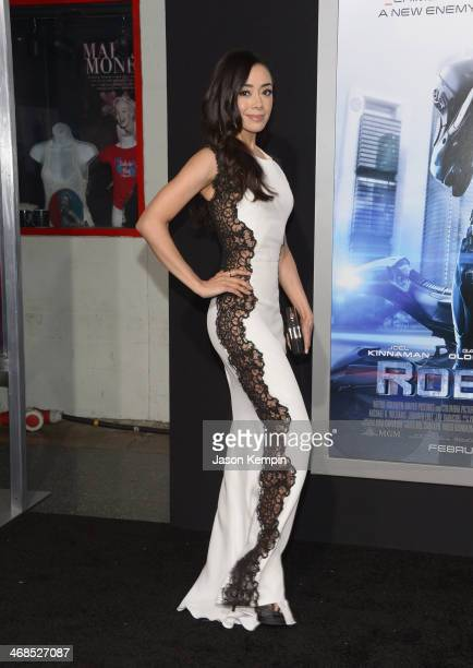 Actress Aimee Garcia attends the premiere of Columbia Pictures' Robocop on February 10 2014 in Hollywood California