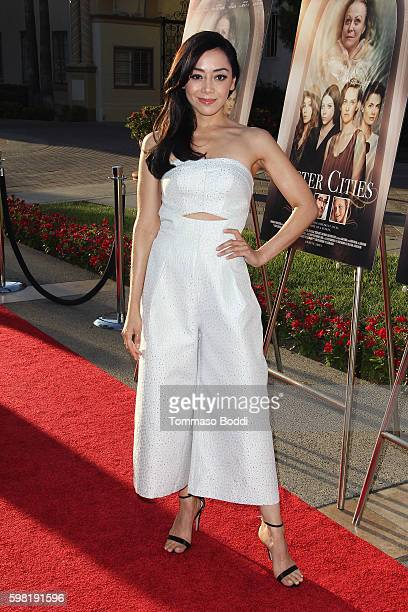 Actress Aimee Garcia attends the premiere of Lifetime's 'Sister Cities' held at Paramount Theatre on August 31 2016 in Hollywood California