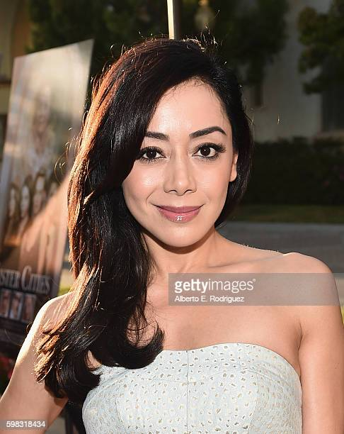 Actress Aimee Garcia attends the premiere of Lifetime's 'Sister Cities' at Paramount Theatre on August 31 2016 in Hollywood California