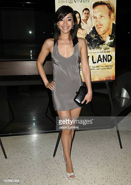 """Actress Aimee Garcia attends the premiere of """"The Dry Land"""" at Pacific Design Center on July 19, 2010 in West Hollywood, California."""