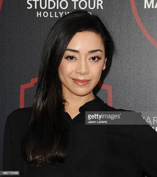 Actress Aimee Garcia attends the unveiling of Warner Bros Studio expansion at Warner Bros Studios on July 14 2015 in Burbank California