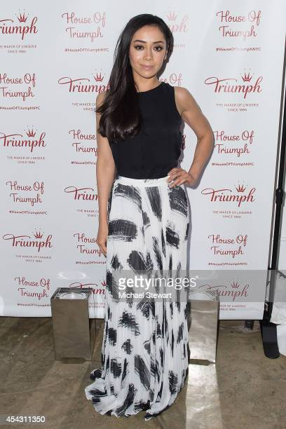 Actress Aimee Garcia attends Triumph Lingerie's Magic Wire Launch Event at The Old Bowery Station on August 28 2014 in New York City