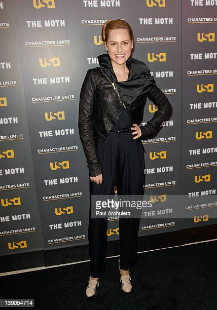 Actress Aimee Mullins attends the USA Network and The Moth presentation of 'A More Perfect Union Stories Of Prejudice And Power' at Pacific Design...