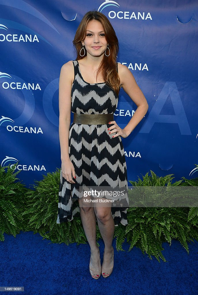 Actress Aimee Teegarden arrives at the 2012 Oceana's SeaChange Party at a private residence on July 29, 2012 in Laguna Beach, California.