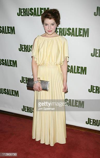 Actress AimeeFfion Edwards attends the opening night of Jerusalem on Broadway at The Music Box Theatre on April 21 2011 in New York City