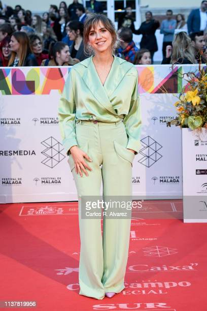Actress Aina Clotet attends the Malaga Film Festival 2019 closing day gala at Cervantes Theater on March 23 2019 in Malaga Spain