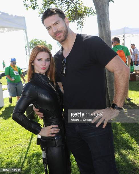 Actress Ainsley Ross and actor Jesse Kove attend Easter Seals Southern California's 'Strides For Disability 5K Run/Walk and 3K Family Fun Walk' held...