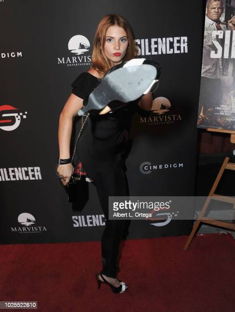 Actress Ainsley Ross arrives for the Premiere Of Cinedigm's 'Silencer' held at Laemmle's Ahrya Fine Arts Theatre on August 30 2018 in Beverly Hills...