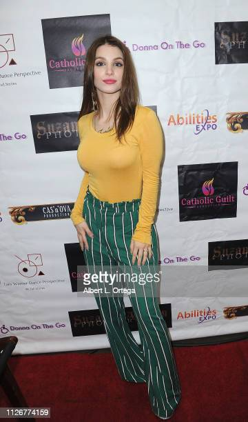 Actress Ainsley Ross at the Season 3 promotion of 'Donna On The Go' and the opening of the official Donna On The Go store at The 2019 Abilities Expo...