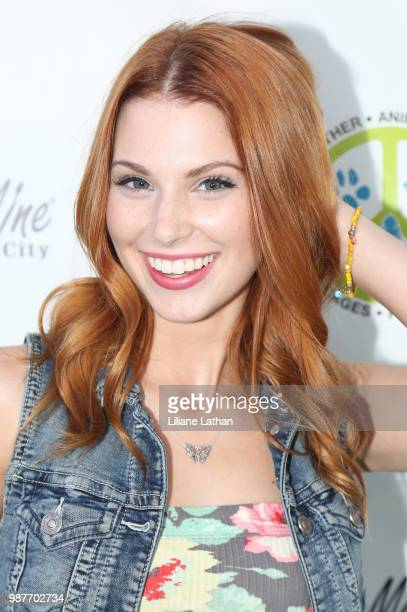 Actress Ainsley Ross attends the Fur Feather Animal Sanctuary's 'Paint 4 Paws' Charity Benefit at Color Me Mine on June 29 2018 in Studio City...