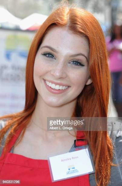 Actress Ainsley Ross attends the Los Angeles Mission Easter Charity Event held at Los Angeles Mission on March 30 2018 in Los Angeles California