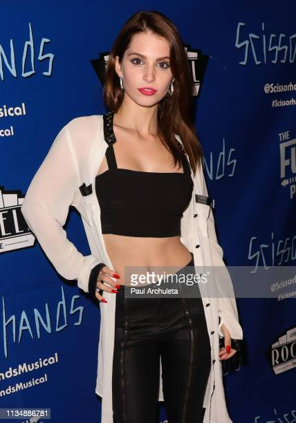 Actress Ainsley Ross attends the unauthorized musical parody of Scissorhands A Musical at Rockwell Table and Stage on March 09 2019 in Los Angeles...
