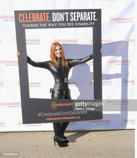 Actress Ainsley Ross dressed as The Black Widow at Easter Seals Southern California's 'Strides For Disability 5K Run/Walk and 3K Family Fun Walk'...
