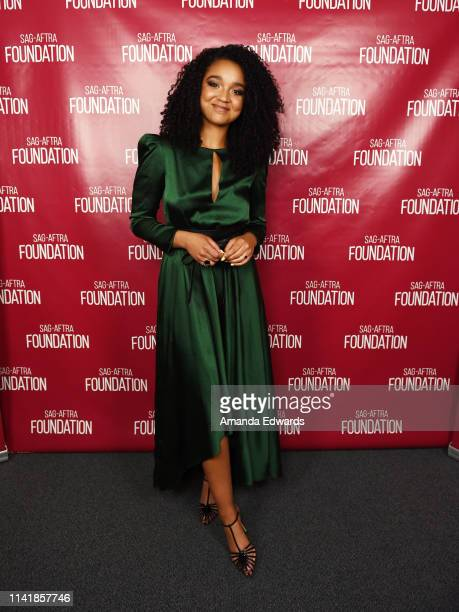 Actress Aisha Dee attends the SAGAFTRA Foundation Conversations with Freeforms' The Bold Type Season 3 on April 10 2019 in Los Angeles California
