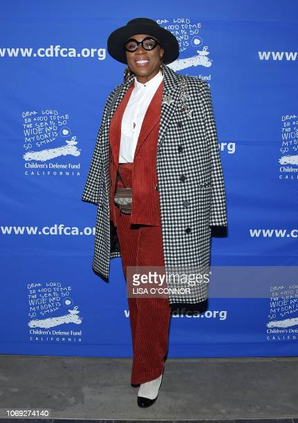 US actress Aisha Hinds arrives for the Children's Defense FundCalifornia's 28th Annual Beat the Odds awards at the Skirball cultural center in Los...
