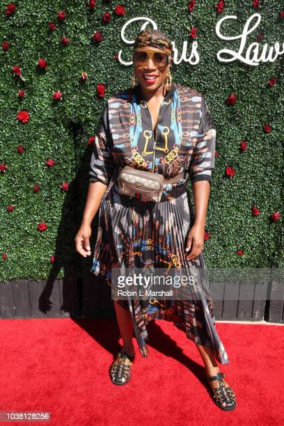 Actress Aisha Hinds attends Taraji's Boutique of Hope on September 22 2018 in Beverly Hills California