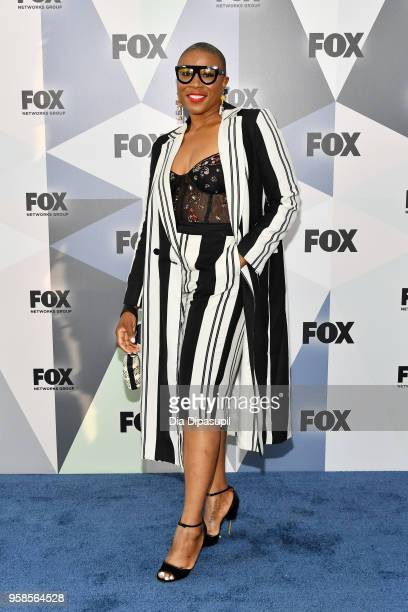 Actress Aisha Hinds attends the 2018 Fox Network Upfront at Wollman Rink Central Park on May 14 2018 in New York City