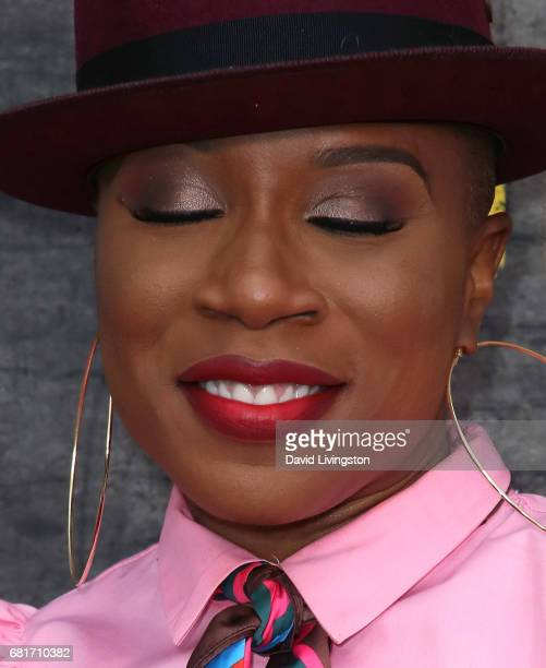 Actress Aisha Hinds eye shadow detail attends Fox's 'Shots Fired' FYC event at the Saban Media Center on May 10 2017 in North Hollywood California