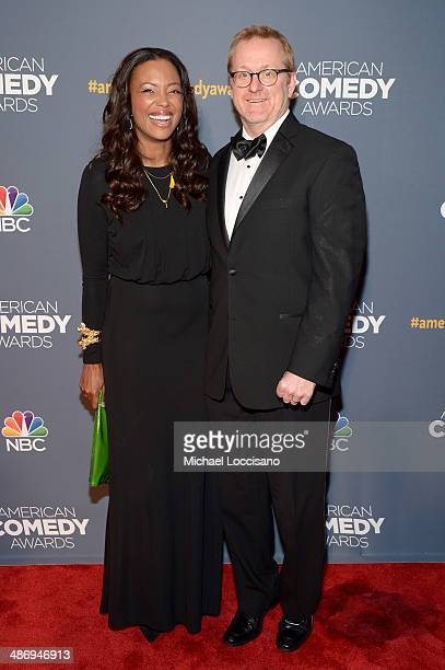 Actress Aisha Tyler and Matt Thompson attend 2014 American Comedy Awards at Hammerstein Ballroom on April 26, 2014 in New York City.