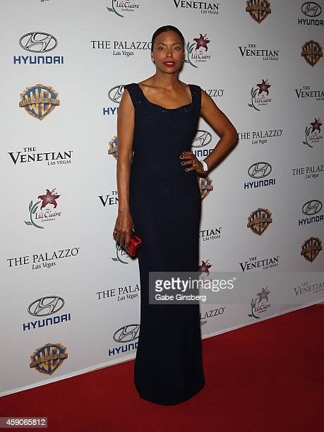 Actress Aisha Tyler arrives at Live Your Passion Celebrity Benefit at The Venetian Las Vegas on November 15 2014 in Las Vegas Nevada