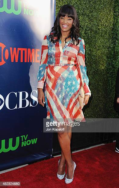 Actress Aisha Tyler arrives at the CBS The CW Showtime CBS Television Distribution 2014 Television Critics Association Summer Press Tour at Pacific...