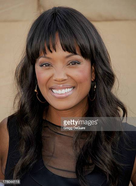 Actress Aisha Tyler arrives at the CBS/CW/Showtime Television Critic Association's summer press tour party at 9900 Wilshire Blvd on July 29 2013 in...