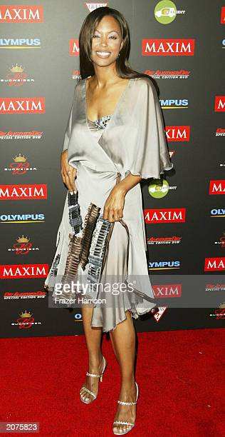 Actress Aisha Tyler arrives at the Maxim Hot 100 party held in Hollywood on June 11 2003 Hollywood California