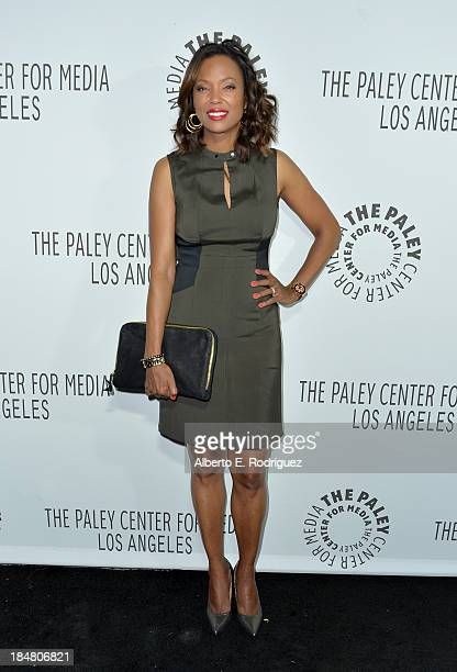 Actress Aisha Tyler arrives at The Paley Center for Media's 2013 benefit gala honoring FX Networks with the Paley Prize for Innovation Excellence at...