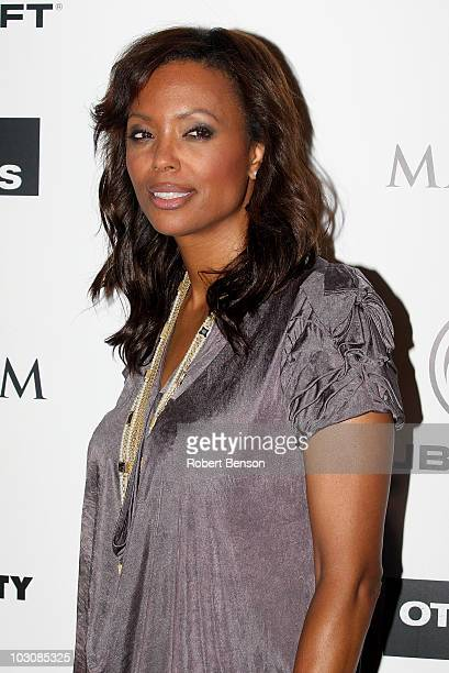 Actress Aisha Tyler attends Maxim Ubisoft and Sony Pictures celebrate the cast of 'The Other Guys' at ComicCon 2010 held at Hotel Solamar on July 23...