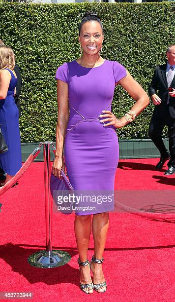 Actress Aisha Tyler attends the 2014 Creative Arts Emmy Awards at the Nokia Theatre LA Live on August 16 2014 in Los Angeles California