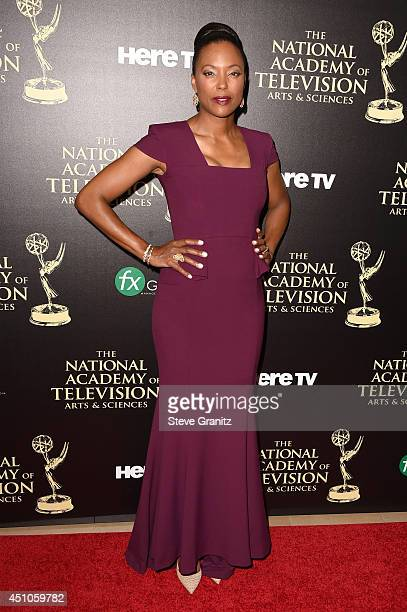 Actress Aisha Tyler attends The 41st Annual Daytime Emmy Awards at The Beverly Hilton Hotel on June 22 2014 in Beverly Hills California