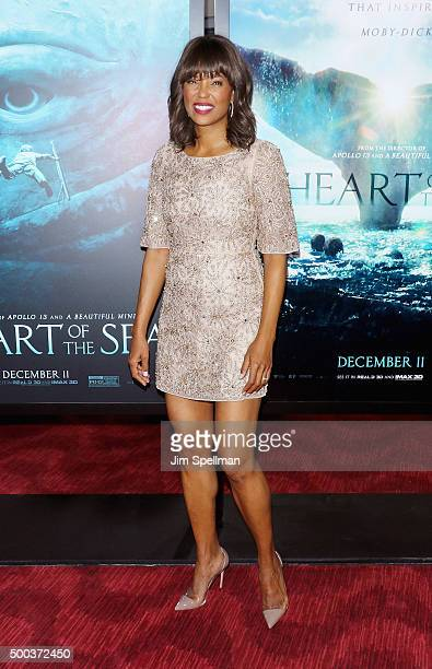 Actress Aisha Tyler attends the 'In The Heart Of The Sea' New York premiere at Frederick P Rose Hall Jazz at Lincoln Center on December 7 2015 in New...