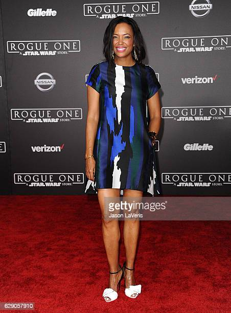 Actress Aisha Tyler attends the premiere of Rogue One A Star Wars Story at the Pantages Theatre on December 10 2016 in Hollywood California