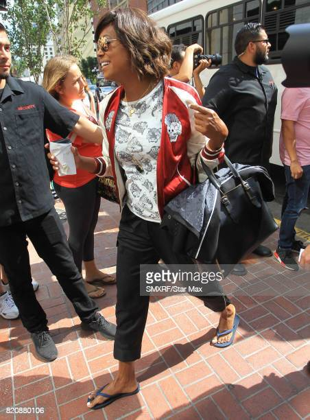 Actress Aisha Tyler is seen on July 21 2017 at Comic Con in San Diego California