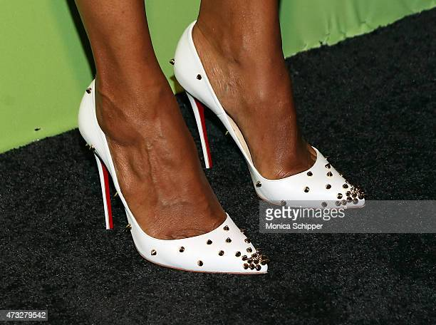 Actress Aisha Tyler shoe detail attends The CW Network's New York 2015 Upfront Presentation at The London Hotel on May 14 2015 in New York City