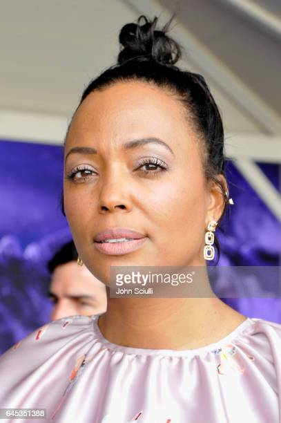 Actress Aisha Tyler visits the Jeep tent at the 2017 Film Independent Spirit Awards sponsored by Jeep at Santa Monica Pier on February 25 2017 in...