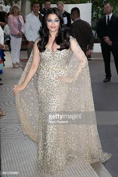 Actress Aishwarya Rai arrives at the 'Grand Hyatt Martinez Hotel' during the annual 69th Cannes Film Festival at on May 13 2016 in Cannes France