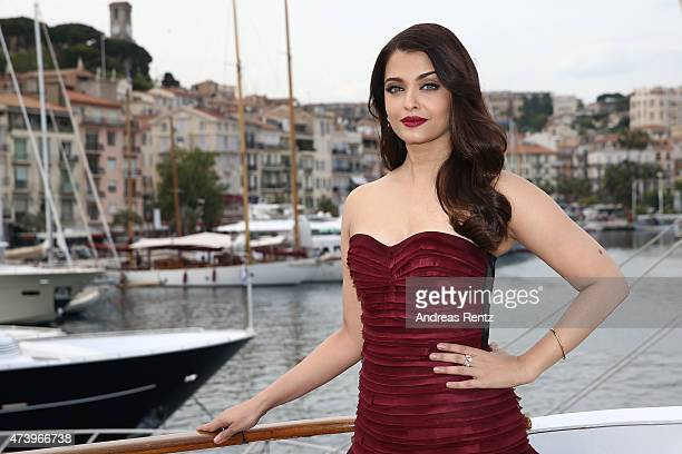 "Actress Aishwarya Rai attends a photocall for ""Jazbaa"" during the 68th annual Cannes Film Festival on May 19, 2015 in Cannes, France."