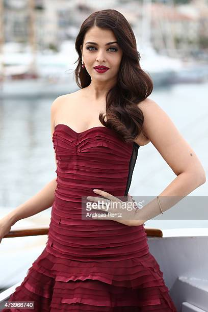 Actress Aishwarya Rai attends a photocall for 'Jazbaa' during the 68th annual Cannes Film Festival on May 19 2015 in Cannes France