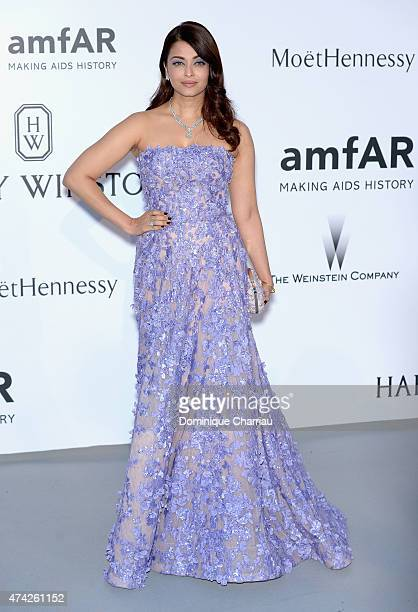 Actress Aishwarya Rai attends amfAR's 22nd Cinema Against AIDS Gala Presented By Bold Films And Harry Winston at Hotel du CapEdenRoc on May 21 2015...