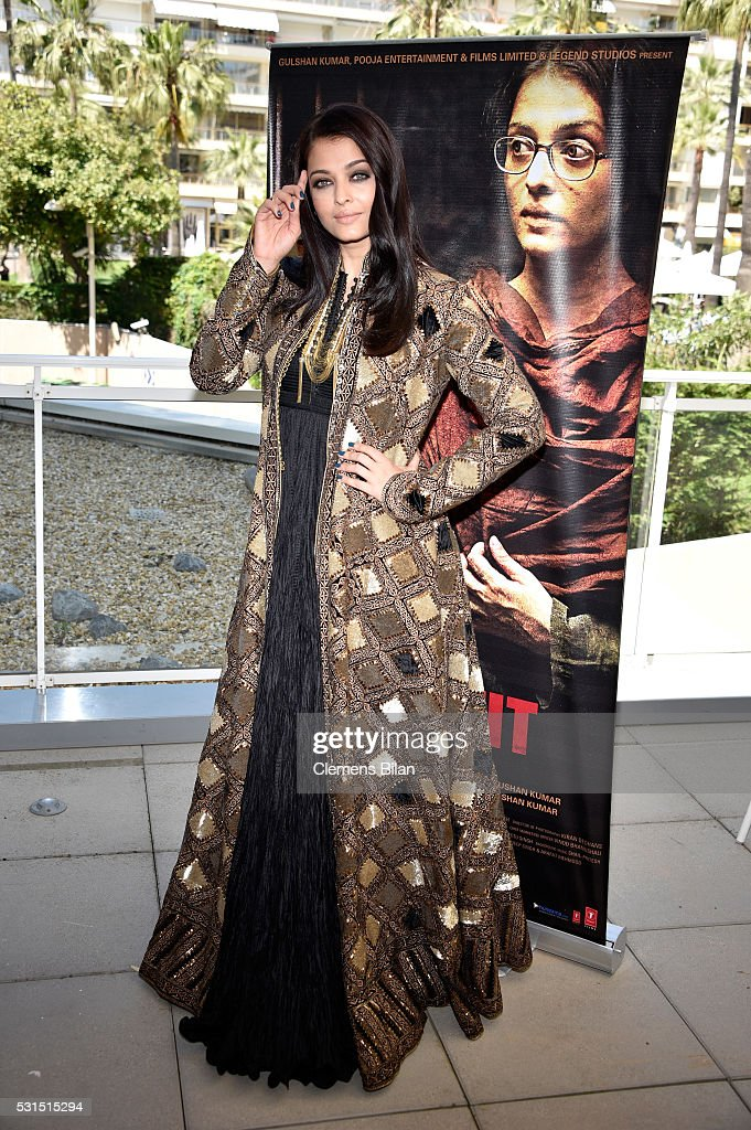Actress Aishwarya Rai attends 'Sarbjit' Photocall during The 69th Annual Cannes Film Festival at the Palais des Festivals on May 15 2016 in Ca