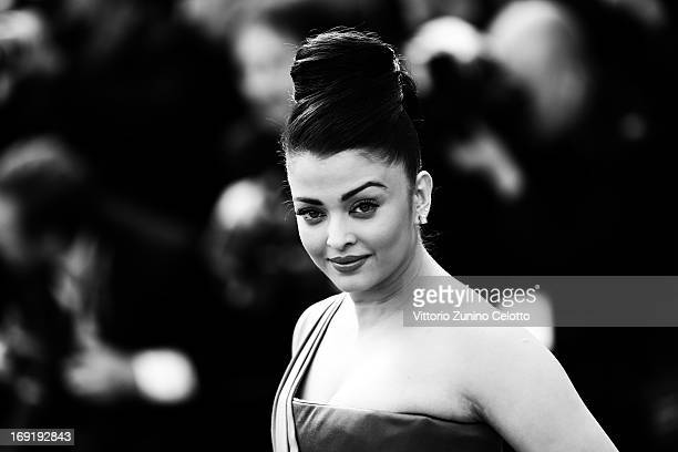 Actress Aishwarya Rai attends the 'Cleopatra' premiere during the 66th Annual Cannes Film Festival on May 21 2013 in Cannes France