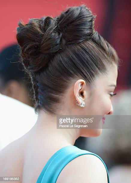 Actress Aishwarya Rai attends the 'Cleopatra' premiere during The 66th Annual Cannes Film Festival at The 60th Anniversary Theatre on May 21 2013 in...