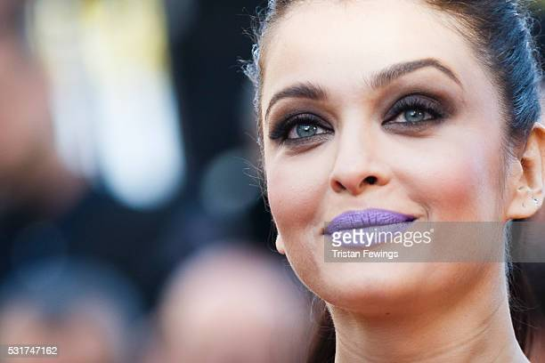 Actress Aishwarya Rai attends the 'From The Land Of The Moon ' premiere during the 69th annual Cannes Film Festival at the Palais des Festivals on...