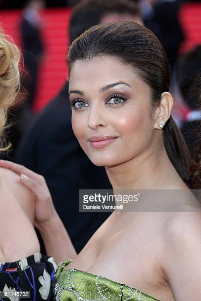 Actress Aishwarya Rai attends the Indiana Jones and the Kingdom of the Crystal Skull premiere at the Palais des Festivals during the 61st Cannes...