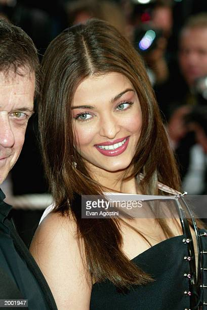 Actress Aishwarya Rai attends 'The Matrix Reloaded' film premiere during the 56th International Cannes Film Festival 2003 at the Palais de Festival...